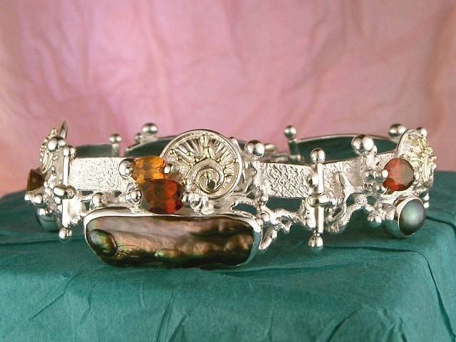 Visit my website to see this bracelet http://www.designerartjewellery.com/bracelets Gregory Pyra Piro One of a Kind Original #Handmade #Gold and #Sterling #Silver #Bracelet 1040