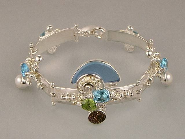 RT or Repin this Now Gregory Pyra Piro One of a Kind Original #Handmade #Gold and #Sterling #Silver #Bracelet 8040