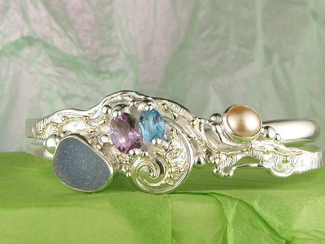 RT or Repin this Now Gregory Pyra Piro One of a Kind Original #Handmade #Gold and #Sterling #Silver #Bracelet 2843