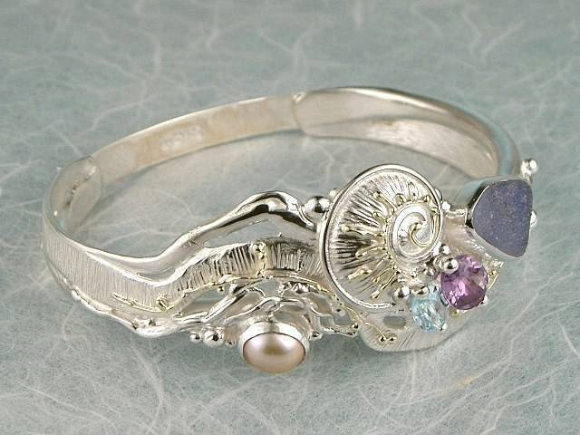 RT or Repin this Now Gregory Pyra Piro One of a Kind Original #Handmade #Gold and #Sterling #Silver #Bracelet 9535
