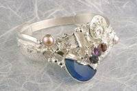 Visit my website to see this bracelet http://www.designerartjewellery.com/bracelets Gregory Pyra Piro One of a Kind Original #Handmade #Gold and #Sterling #Silver #Bracelet 2080