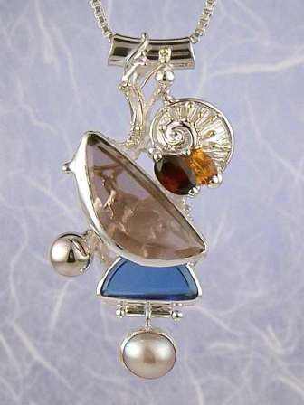 RT or Repin this Now Gregory Pyra Piro #Sterling #Silver and #Gold #Pendant 7854