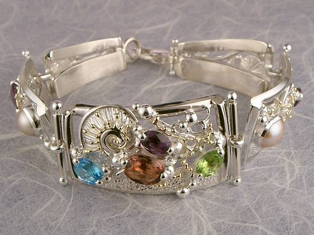 Visit my website to see this bracelet http://www.designerartjewellery.com/bracelets Gregory Pyra Piro One of a Kind Original #Handmade #Gold and #Sterling #Silver #Bracelet 3510