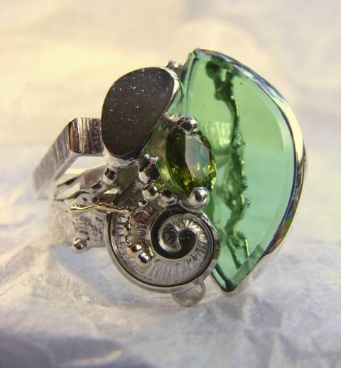 Original Handmade by Artist Designer Maker, Gregory Pyra Piro One of a Kind Original #Handmade #Sterling #Silver and #Gold, Jewellery in #London, #Art Jewellery, #Jewellery Handcrafted by #Artist, #Ring 3928