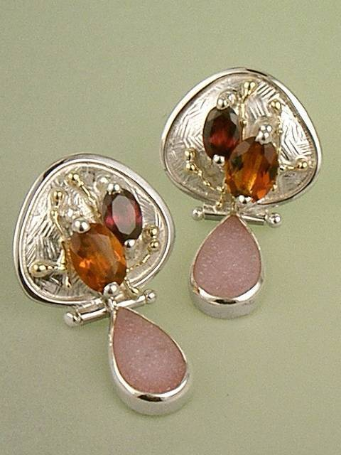 Original Handmade by Artist Designer Maker, Gregory Pyra Piro One of a Kind Original #Handmade #Sterling #Silver and #Gold, Jewellery in #London, #Art Jewellery, #Jewellery Handcrafted by #Artist, #Earrings 1643