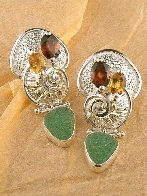 Original Handmade by Artist Designer Maker, Gregory Pyra Piro One of a Kind Original #Handmade #Sterling #Silver and #Gold, Jewellery in #London, #Art Jewellery, #Jewellery Handcrafted by #Artist, #Earrings 5486