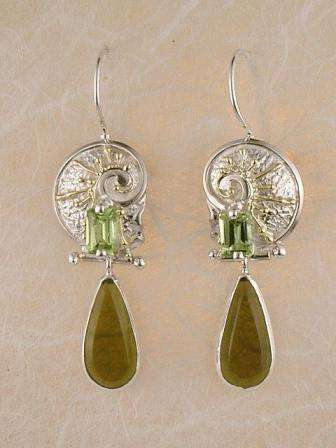 Original Handmade by Artist Designer Maker, Gregory Pyra Piro One of a Kind Original #Handmade #Sterling #Silver and #Gold, Jewellery in #London, #Art Jewellery, #Jewellery Handcrafted by #Artist, #Earrings 3274