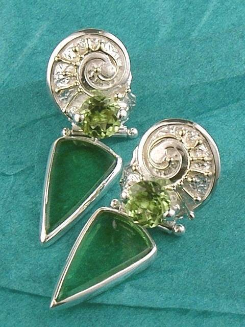 Original Handmade by Artist Designer Maker, Gregory Pyra Piro One of a Kind Original #Handmade #Sterling #Silver and #Gold, Jewellery in #London, #Art Jewellery, #Jewellery Handcrafted by #Artist, #Earrings 2365