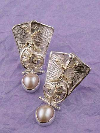 Original Handmade by Artist Designer Maker, Gregory Pyra Piro One of a Kind Original #Handmade #Sterling #Silver and #Gold, Jewellery in #London, #Art Jewellery, #Jewellery Handcrafted by #Artist, #Earrings 2854