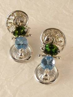 Original Handmade by Artist Designer Maker, Gregory Pyra Piro One of a Kind Original #Handmade #Sterling #Silver and #Gold, Jewellery in #London, #Art Jewellery, #Jewellery Handcrafted by #Artist, #Earrings 2548