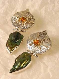 Original Handmade by Artist Designer Maker, Gregory Pyra Piro One of a Kind Original #Handmade #Sterling #Silver and #Gold, Jewellery in #London, #Art Jewellery, #Jewellery Handcrafted by #Artist, #Earrings 6856