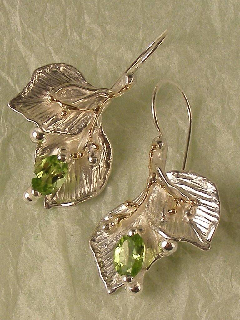 Gregory Pyra Piro One Of A Kind Original Handmade Nature Earrings With Leaf Design 2182
