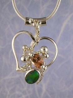 Original Handmade by Artist Designer Maker, Gregory Pyra Piro One of a Kind Original #Handmade #Sterling #Silver and #Gold, Jewellery in #London, #Art Jewellery, #Jewellery Handcrafted by #Artist, #Opal #Pendant 4054
