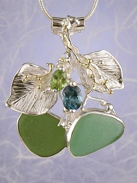 Follow us, Join us on Facebook, and visit http://www.designerartjewellery.com, Gregory Pyra Piro One of a Kind Handmade Jewellery in London in Silver and Gold, Bespoke Jewellery with Semi Precious Stones, #Peridot and Blue Topaz #Pendant 2090