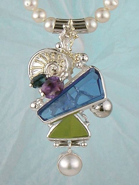Original Handmade by Artist Designer Maker, Gregory Pyra Piro One of a Kind Original #Handmade #Sterling #Silver and #Gold, Jewellery in #London, #Art Jewellery, #Jewellery Handcrafted by #Artist, #Necklace 1835