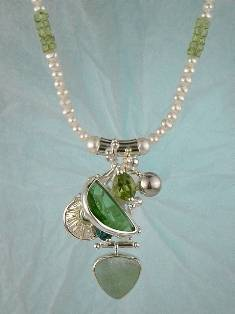 Follow us, Join us on Facebook, and visit http://www.designerartjewellery.com, Gregory Pyra Piro One of a Kind Handmade Jewellery in London in Silver and Gold, Bespoke Jewellery with Semi Precious Stones, #Necklace 2085