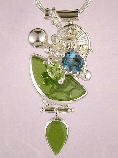 RT or Repin this Now Gregory Pyra Piro #Sterling #Silver and #Gold #Pendant 9100