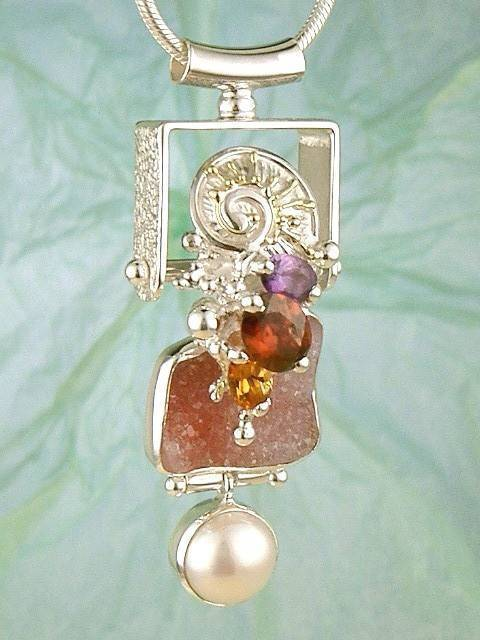 Follow us, Join us on Facebook, and visit http://www.designerartjewellery.com, Gregory Pyra Piro One of a Kind Handmade Jewellery in London in Silver and Gold, Bespoke Jewellery with Semi Precious Stones, #Pendant 4632