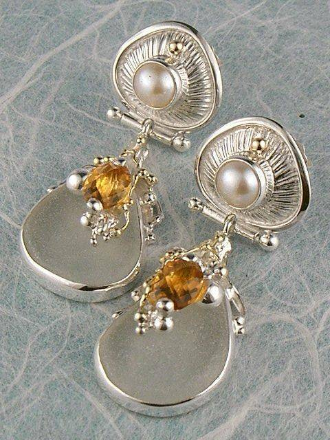 Original Handmade by Artist Designer Maker, Gregory Pyra Piro One of a Kind Original #Handmade #Sterling #Silver and #Gold, Jewellery in #London, #Art Jewellery, #Jewellery Handcrafted by #Artist, #Earrings 5848