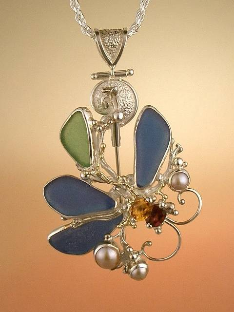 Gregory Pyra Piro One of a Kind Handmade Original Brooch Pendant 4928