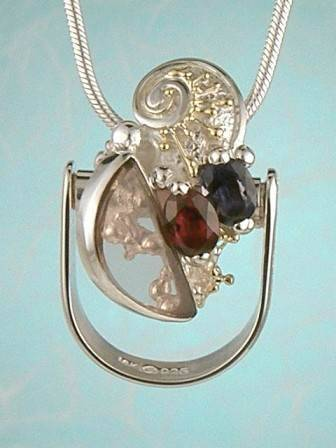 RT or Repin this Now Gregory Pyra Piro #Sterling #Silver and #Gold Band #Ring #Pendant 3052