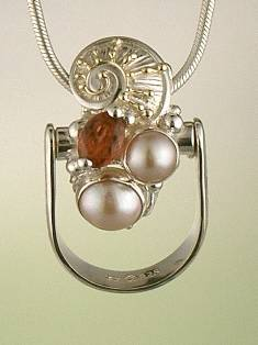 Get a Unique Ring Pendant like this that Works as both a Ring and a Pendant,  Gregory Pyra Piro, #Handmade #Sterling #Silver and #Gold, #Art Jewellery, #Jewellery Handcrafted by #Artist, #Ring Pendant 1736
