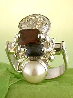 Get a Unique Ring Pendant like this that Works as both a Ring and a Pendant,  Gregory Pyra Piro, #Handmade #Sterling #Silver and #Gold, #Art Jewellery, #Jewellery Handcrafted by #Artist, #Ring Pendant 1285