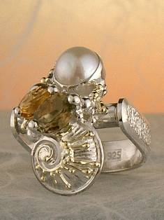Get a Unique Ring Pendant like this that Works as both a Ring and a Pendant,  Gregory Pyra Piro, #Handmade #Sterling #Silver and #Gold, #Art Jewellery, #Jewellery Handcrafted by #Artist, #Ring Pendant 3382