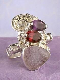 Get a Unique Ring Pendant like this that Works as both a Ring and a Pendant,  Gregory Pyra Piro, #Handmade #Sterling #Silver and #Gold, #Art Jewellery, #Jewellery Handcrafted by #Artist, #Ring Pendant 2937