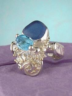 Get a Unique Ring Pendant like this that Works as both a Ring and a Pendant,  Gregory Pyra Piro, #Handmade #Sterling #Silver and #Gold, #Art Jewellery, #Jewellery Handcrafted by #Artist, #Ring Pendant 8648
