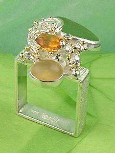 Original Handmade by Artist Designer Maker, Gregory Pyra Piro One of a Kind Original #Handmade #Sterling #Silver and #Gold, Jewellery in #London, #Art Jewellery, #Jewellery Handcrafted by #Artist, #Ring 7490