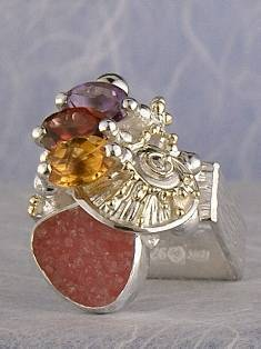 Original Handmade by Artist Designer Maker, Gregory Pyra Piro One of a Kind Original #Handmade #Sterling #Silver and #Gold, Jewellery in #London, #Art Jewellery, #Jewellery Handcrafted by #Artist, #Ring 3012