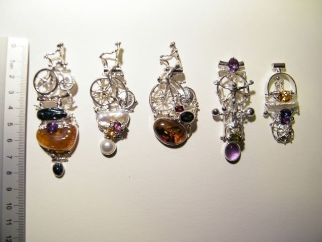 Gregory Pyra Piro One of a kind Original Hand made Art Jewellery