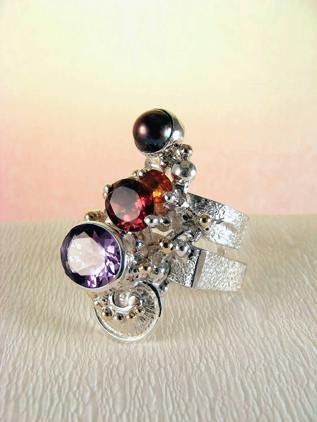Original Handmade by Artist Designer Maker, Gregory Pyra Piro One of a Kind Original #Handmade #Sterling #Silver and #Gold, Jewellery in #London, #Art Jewellery, #Jewellery Handcrafted by #Artist, #Ring 2631