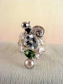 Follow us, Join us on Facebook, and visit http://www.designerartjewellery.com, Gregory Pyra Piro One of a Kind Handmade Jewellery in London in Silver and Gold, Bespoke Jewellery with Semi Precious Stones, Band #Ring 1441