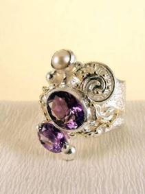 Follow us, Join us on Facebook, and visit http://www.designerartjewellery.com, Gregory Pyra Piro One of a Kind Handmade Jewellery in London in Silver and Gold, Bespoke Jewellery with Semi Precious Stones, Band #Ring 8442