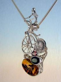 Original Handmade by Artist Designer Maker, Gregory Pyra Piro One of a Kind Original #Handmade #Sterling #Silver and #Gold, Jewellery in #London, #Art Jewellery, #Jewellery Handcrafted by #Artist, #Pendant 4287