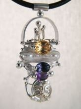 Original Handmade by Artist Designer Maker, Gregory Pyra Piro One of a Kind Original #Handmade #Sterling #Silver and #Gold, Jewellery in #London, #Art Jewellery, #Jewellery Handcrafted by #Artist, #Pendant 2650