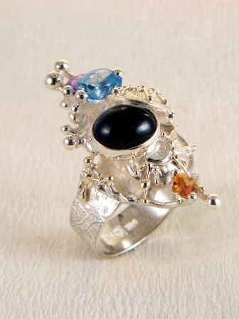 Original Handmade by Artist Designer Maker, Gregory Pyra Piro One of a Kind Original #Handmade #Sterling #Silver and #Gold, Jewellery in #London, #Art Jewellery, #Jewellery Handcrafted by #Artist, #Ring 4030