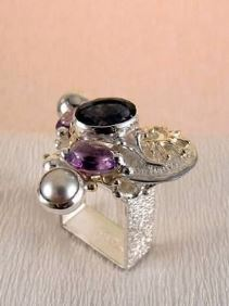 Original Handmade by Artist Designer Maker, Gregory Pyra Piro One of a Kind Original #Handmade #Sterling #Silver and #Gold, Jewellery in #London, #Art Jewellery, #Jewellery Handcrafted by #Artist, #Ring 3623