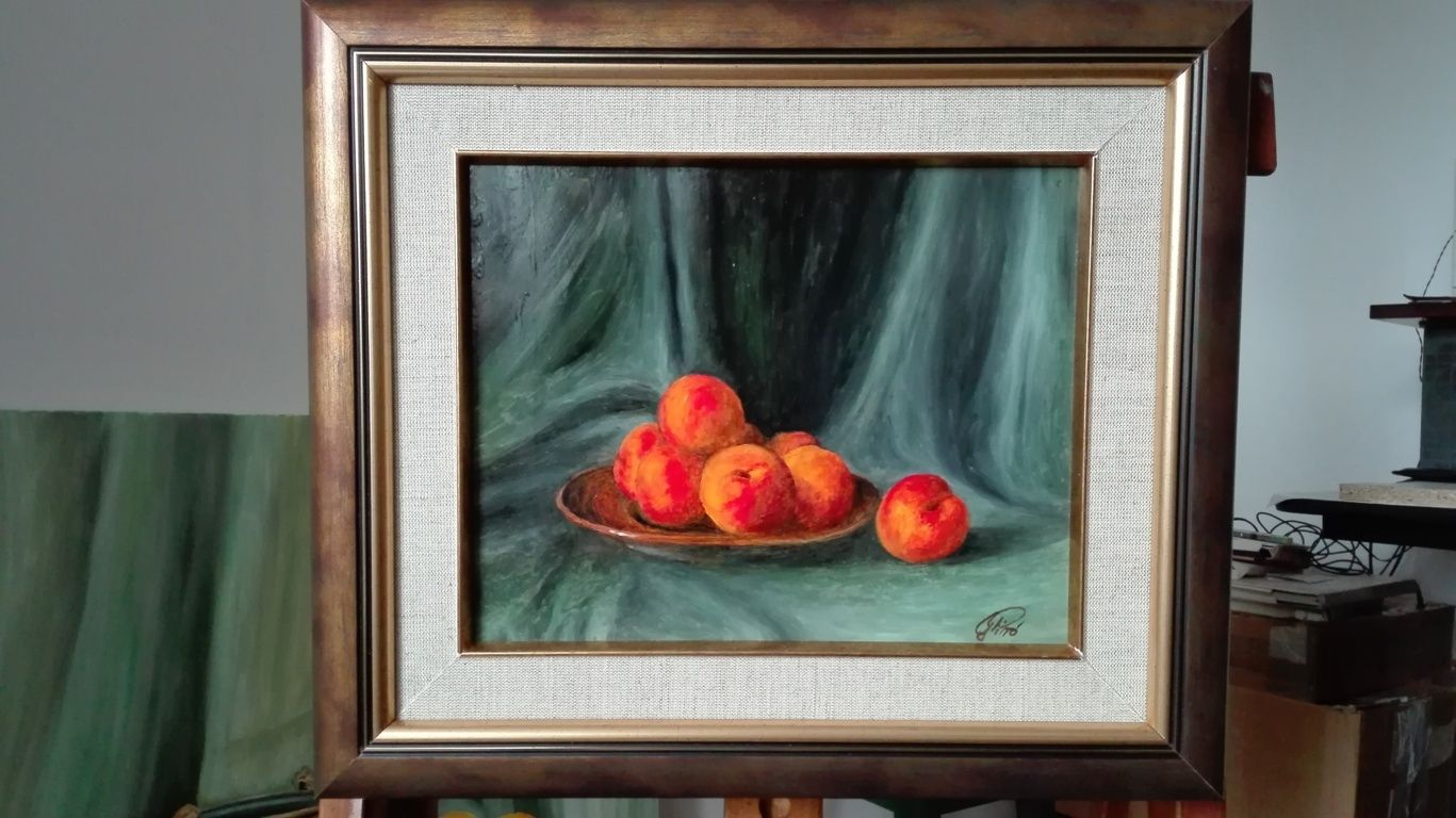 Oil Painting, Apricots, Gregory Pyra Piro