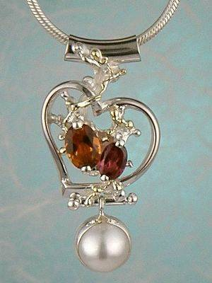 gregory pyra piro conceptual and sculptural one of a kind handcrafted art jewellery, auction style handcrafted jewellery made by jewellery maker, artistic handcrafted jewellery made by artisan, art jewellery handcrafted by artist,  conceptual design jewellery made by artisan, conceptual handcrafted jewellery made by jewellery maker, handcrafted jewellery with gemstones and pearls, conceptual jewellery made from gold and silver,  #Pendant #9208