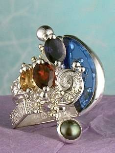 Original Handmade by Artist Designer Maker, Gregory Pyra Piro One of a Kind Original #Handmade #Sterling #Silver and #Gold, Jewellery in #London, #Art Jewellery, #Jewellery Handcrafted by #Artist, #Ring 30303
