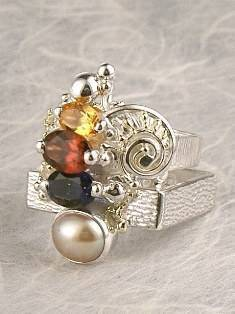 Original Handmade by Artist Designer Maker, Gregory Pyra Piro One of a Kind Original #Handmade #Sterling #Silver and #Gold, Jewellery in #London, #Art Jewellery, #Jewellery Handcrafted by #Artist, #Ring 4892
