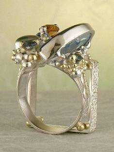 Original Handmade by Artist Designer Maker, Gregory Pyra Piro One of a Kind Original #Handmade #Sterling #Silver and #Gold, Jewellery in #London, #Art Jewellery, #Jewellery Handcrafted by #Artist, #Ring 5731