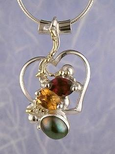 Original Handmade by Artist Designer Maker, Gregory Pyra Piro One of a Kind Original #Handmade #Sterling #Silver and #Gold, Jewellery in #London, #Art Jewellery, #Jewellery Handcrafted by #Artist, #Citrine and #Garnet #Pendant 6593