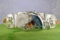 RT or Repin this Now Gregory Pyra Piro One of a Kind Original #Handmade One of a Kind Original #Handmade #Gold and #Sterling #Silver #Bracelet 8032