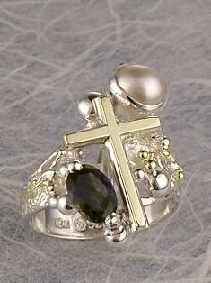 where to buy artisan soldered and reticulated mixed metal jewellery, how to buy artisan reticulated and soldered silver and gold jewellery with gemstones, Bespoke Jewellery with Semi Precious Stones, #Ring 3821
