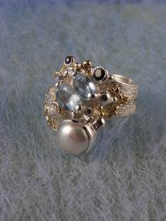 RT or Repin this Now Gregory Pyra Piro #Sterling #Silver and #Gold #Ring 3824