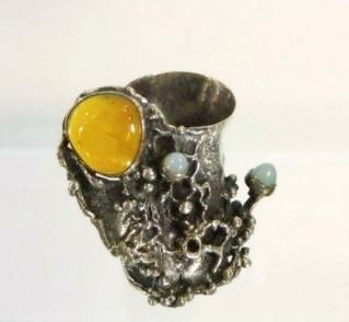 Gregory Pyra Piro Museum Works, Cups, Chalices, Mirrors, Silver, Amber, Abolone, Ebony Wood